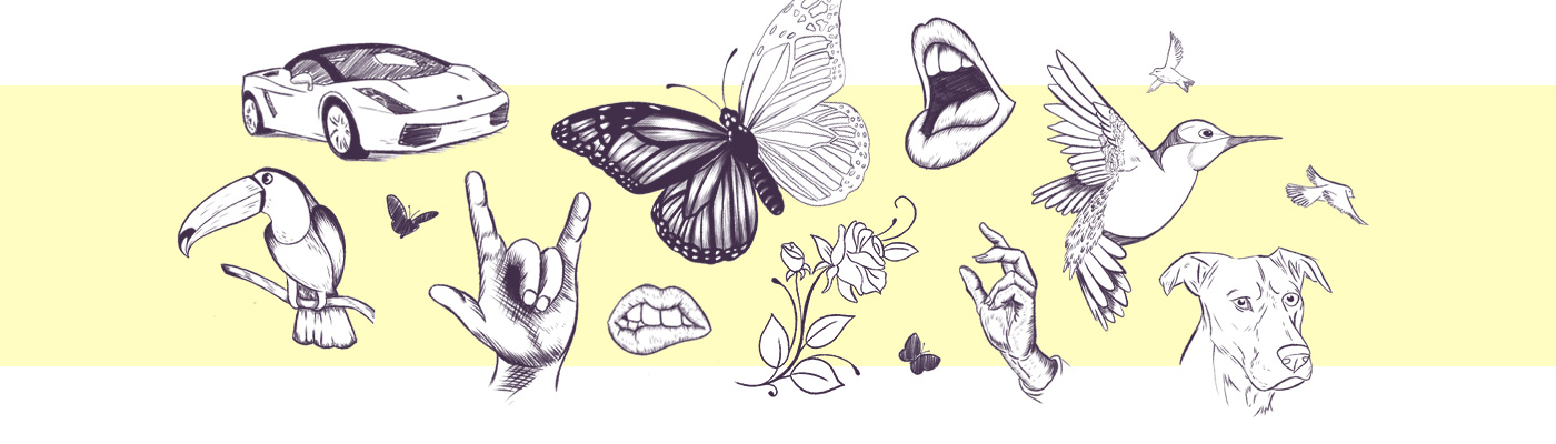 Drawings made with a Drawing Tablet