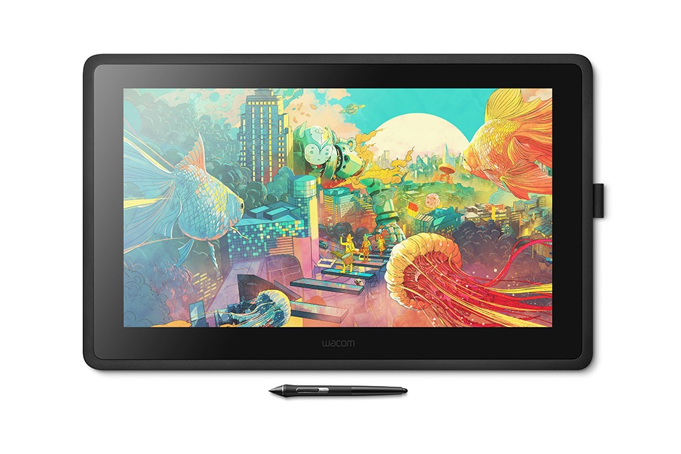 Wacom Cintiq 22 front view with key art
